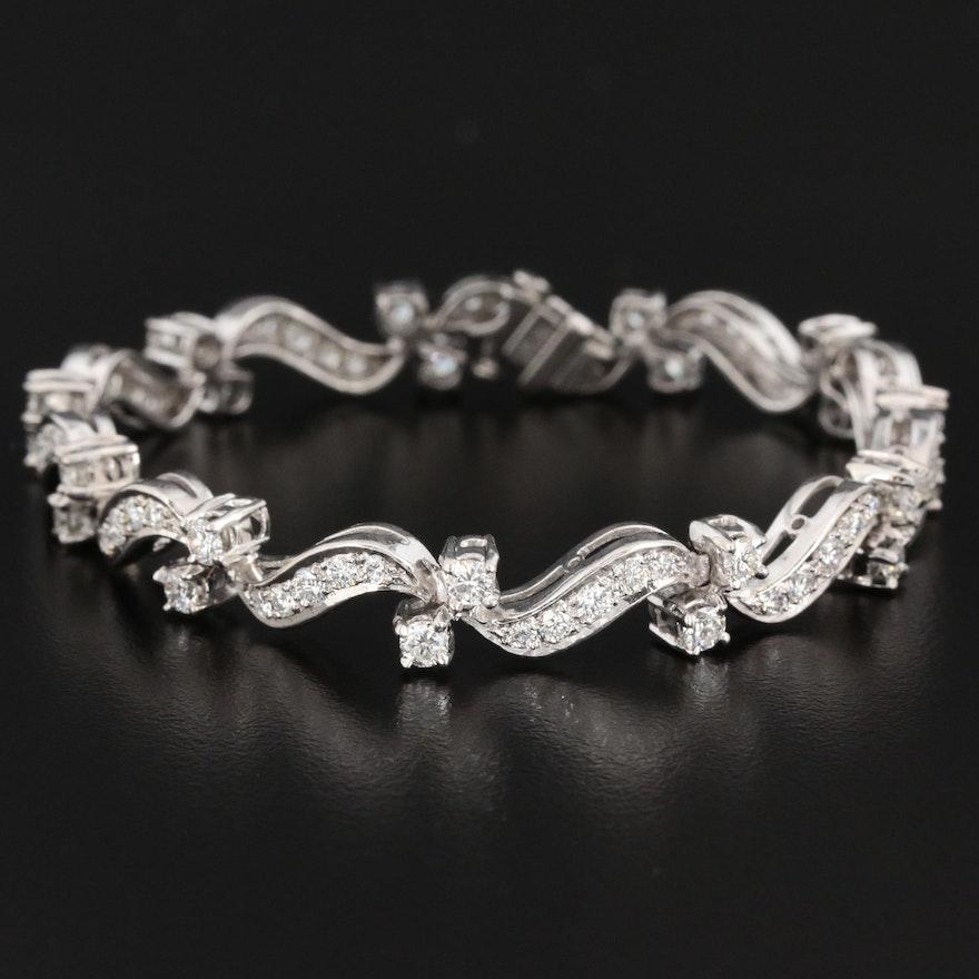 Platinum 3.51 CTW Diamond Bracelet