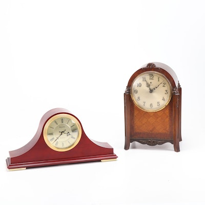Bulova Tambour and Mantel Clocks, 20th Century