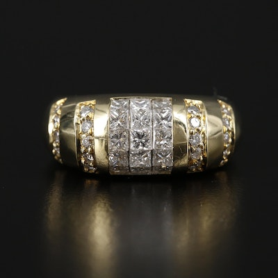 18K Yellow Gold 1.52 CTW Diamond Ring