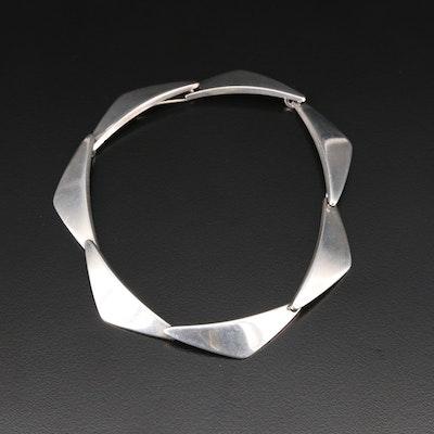 Georg Jensen Vintage Sterling Triangular Link Bracelet