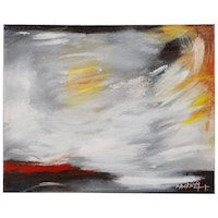 "Robert Lackney Abstract Acrylic Painting ""Lightflash"""
