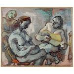 Samuel Heller Figural Oil Painting