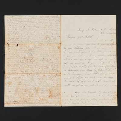 "1863 Kentucky Civil War Union Soldier's Correspondence Letter to ""Cousin Sallie"""