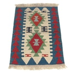 2'6 x 3'11 Hand-Knotted Persian Shiraz Kilim Rug, 1970s