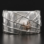 Tiffany & Co. Sterling Spider Web Cuff with 18K Gold Spider