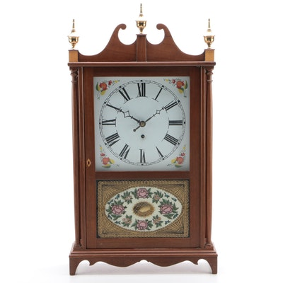 Federal Style Walnut Shelf Clock, Mid to Late 20th Century