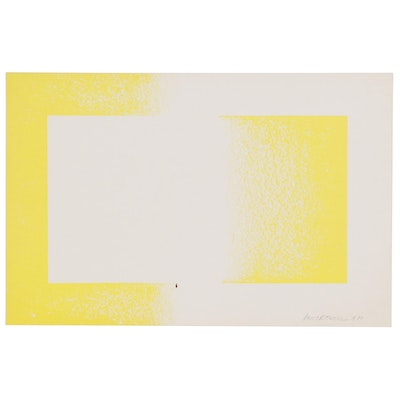 "Lithograph after Richard Anuszkiewicz ""Yellow Reversed"""