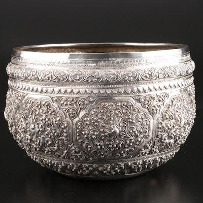 Burmese Silver Thabeik Bowl, 20th Century