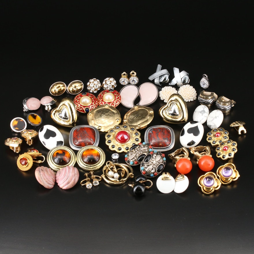 Earrings and Pendant Jewelry Including Sterling, Jasper, Rose Quartz and More