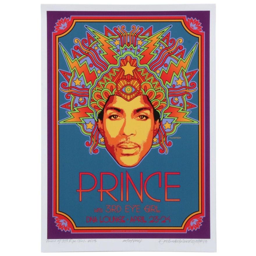 "David Edward Byrd Giclée Print ""Prince with 3rd Eye Girl 2013"""