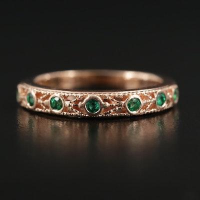 14K Rose Gold Emerald Ring