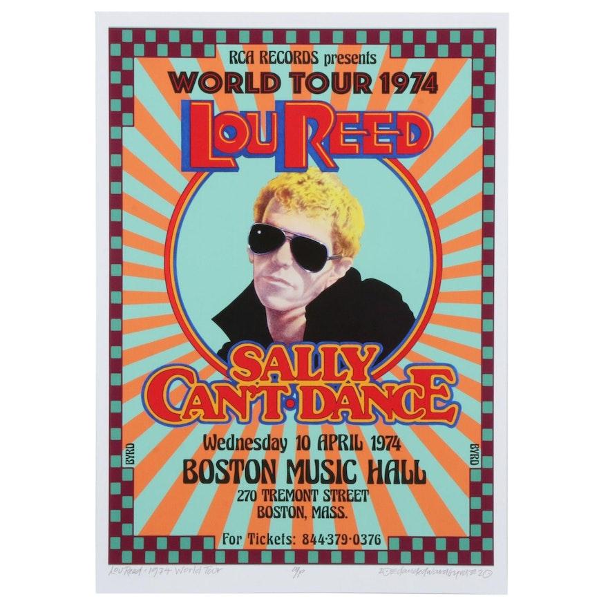 """David Edward Byrd Giclée Print """"Lou Reed 1974 World Tour,"""" 2020"""