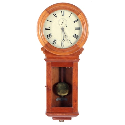 Chelsea Clock Company Cherry Wall Regulator Clock, Circa 1900