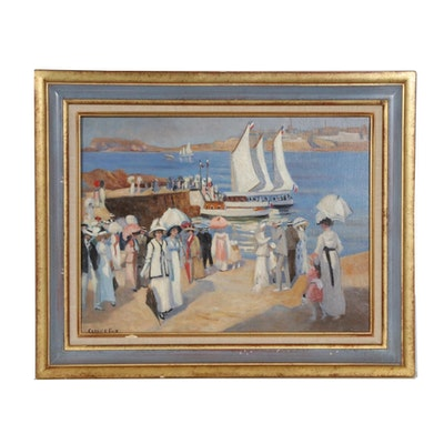 Reproduction Oil Painting after Ethel Carrick Fox, Mid to Late 20th Century