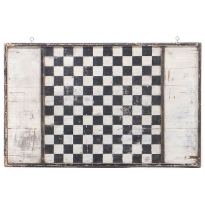 American Primitive Painted Pine Gameboard, Late 19th Century