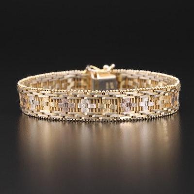 Milor Italian Sterling Riccio Chain Link Bracelet