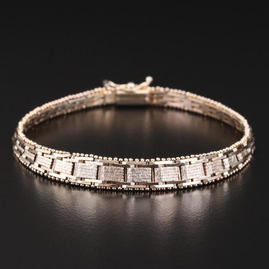 Italian Graduated Sterling Silver Bracelet