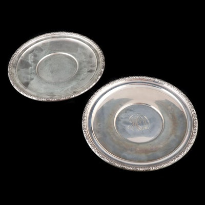 "International Sterling Silver ""Prelude"" Plates, Mid-20th Century"