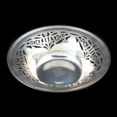 The Sweetser Co. Sterling Silver Art Nouveau Pierced Centerpiece Bowl