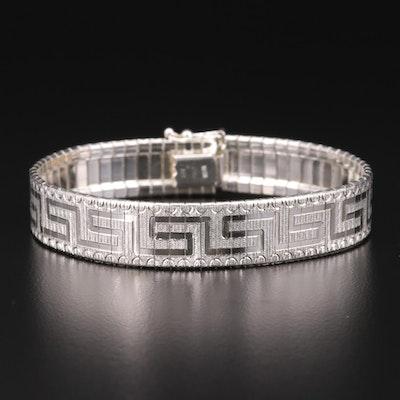 Milor Sterling Greek Key Motif Bracelet