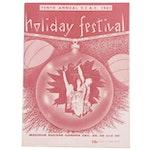 "1961 University of Cincinnati Bearcats Signed ""Holiday Festival"" Program, MSG"