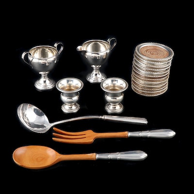 Frank M. Whiting Sterling Silver Serving Utensils and Other Sterling Serveware