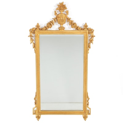 LaBarge Neoclassical Style Gold Tone Wall Mirror, Late 20th Century
