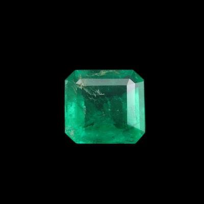 Loose 1.82 CT Emerald Cut Emerald