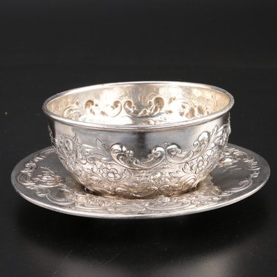 "Reed & Barton and Gorham ""Santa Fe"" Silver Plate Finger Bowl with Underplate"
