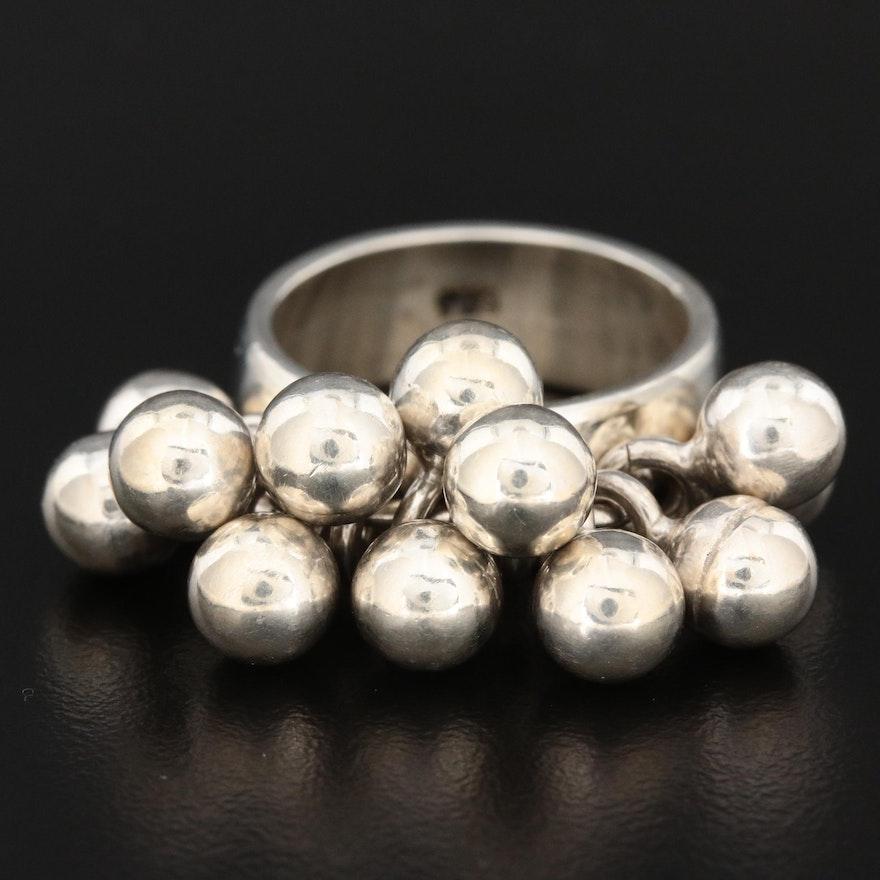 Sterling Silver Fringe Ring