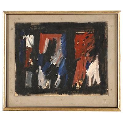 "Leonard Maurer Polymer Painting ""#411,"" 1965"