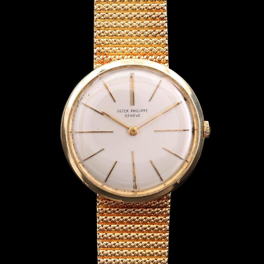 Vintage Patek Philippe Calatrava Ref. 2590 18K Gold Stem Wind Wristwatch