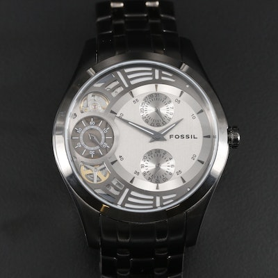 Fossil Twist Multi Function Stainless Steel and Black PVD Quartz Wristwatch