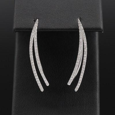 14K Diamond Hanger Earrings