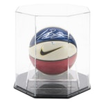 Lebron James Signed Nike Swish Logo Basketball in Case, Global COA