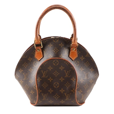 Louis Vuitton Ellipse PM Top Handle Bag in Monogram Canvas and Leather