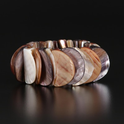 Expandable Mother of Pearl Bracelet