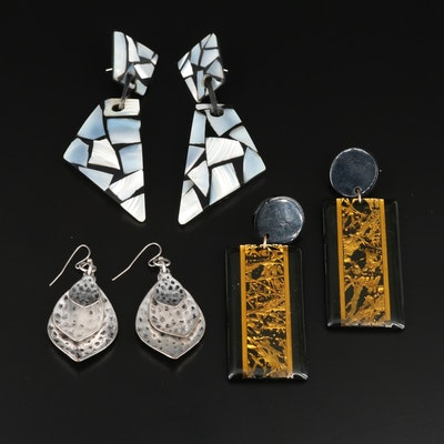 Dangle and Drop Earrings Selection Featuring Mother of Pearl and Resin Accents