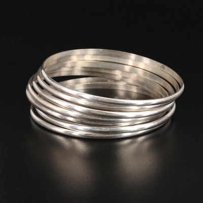 Sterling Silver Stacking Bangle Bracelets