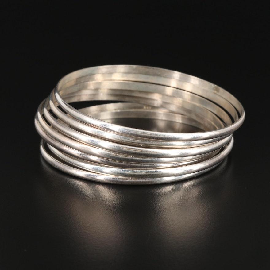 Sterling Silver Stacking Bangle Bracelets