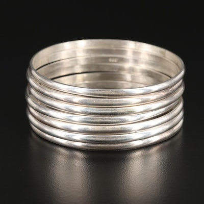 Sterling Silver Stacking Bangles