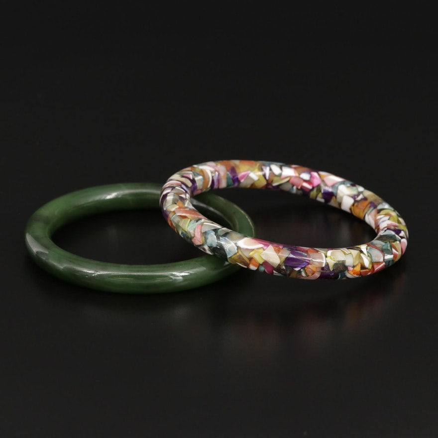 Carved Gemstone Bangles