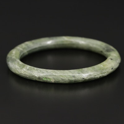 Carved Serpentine Bangle
