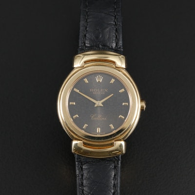Rolex Cellini Cellisima 18K Gold Quartz Wristwatch with Jubilee Dial