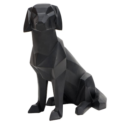 "Grandin Road ""Geo Dog"" Molded Resin Geometric Dog Statuary"