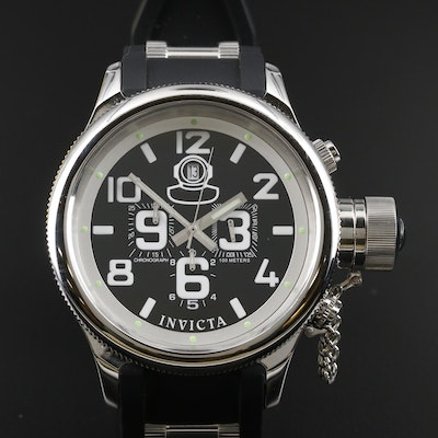 Invicta Russian Diver Stainless Steel Quartz Chronograph Wristwatch
