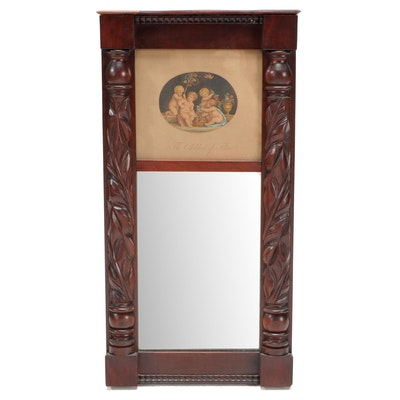 Acanthus Carved Mahogany Mirror, Mid-19th Century