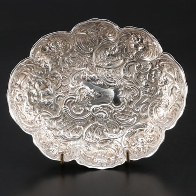 Victorian William Comyns & Sons Sterling Silver Bowl, 1892