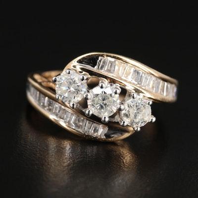 14K Yellow Gold  1.45 CTW Diamond Ring