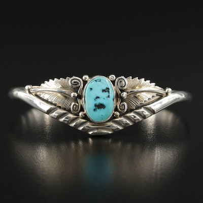 Wydell Billie Navajo Diné Sterling Turquoise Cuff